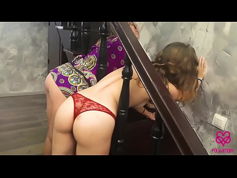 Two silly girls stuck in the railing and I fucked them!