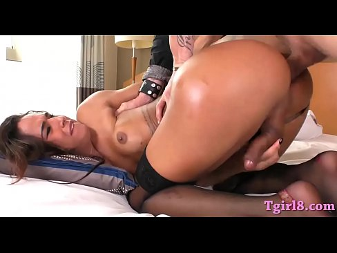 Sweet latin tranny Felipa Lins fucks dude in his ass