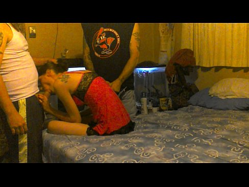 amateur wife shared and used by two guys and gets a double creampie