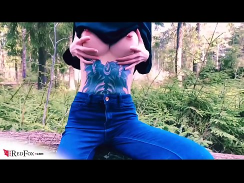 Girlfriend Sensual Deepthroat Big Cock in the Wood - Outdoor