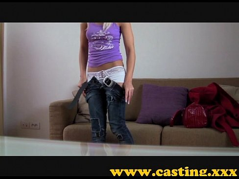Casting - a beautiful angel gets a monster facial