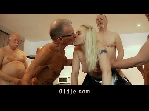 girl Old men gangbang