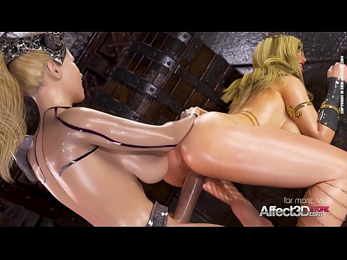 Affect3D Big tits princesses in a futanari 3d animation
