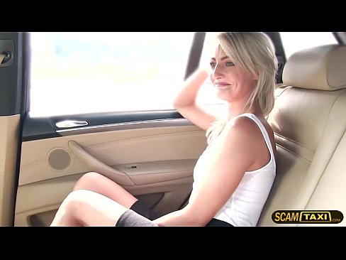 Short skirt minx bounces on a big cock to get a free taxi fare