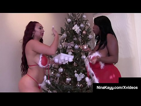 Phat Ass Nina Kayy Has A Big Booby Xmas With BBW Maserati!