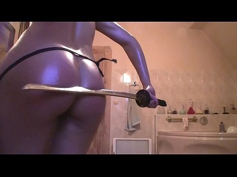 VRpussyVision.com - Red ass - spanking home in bathroom