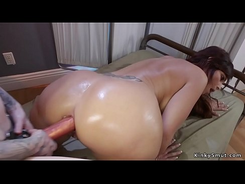 Huge tits Milf anal toys tied up blonde