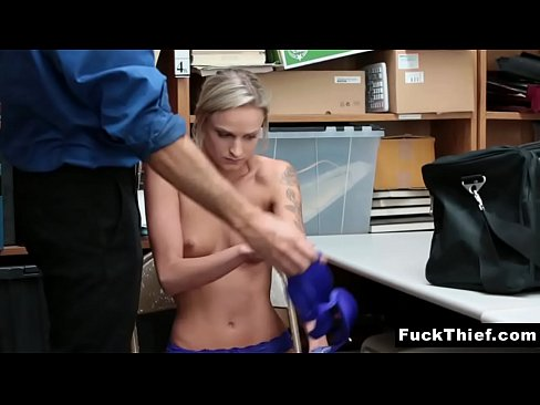 Emma Hix Offers Security Officer a Blowjob For Her Freedom
