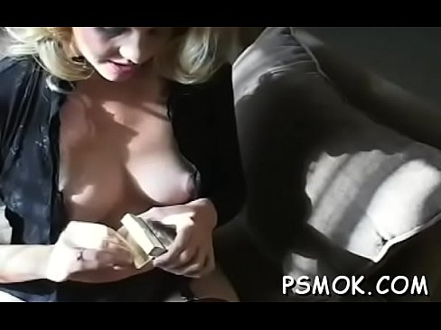 Girl talking on the phone and playing with her shaved twat