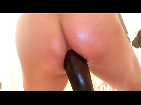 I put a big eggplant in my ass huge dildo