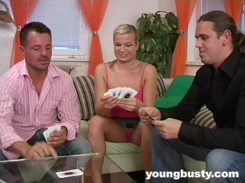 Clip sex Young chesty Carla take two dicks