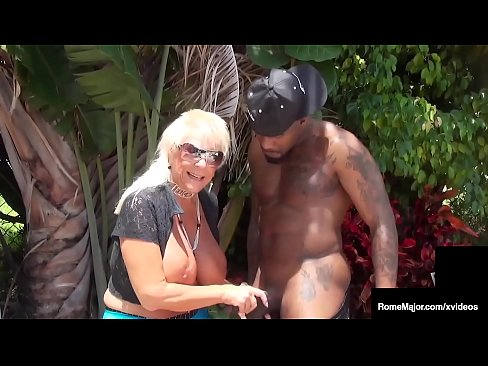 There once was an old lady that swallowed a cock... Granny Mandie McGraw mounts big black cock Rome Major in this dock fucking interracial young/old clip! Full Video & More Chicks @ RomeMajor.com!