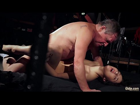 Old man is spoiling his dick with fresh young wet puss
