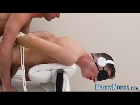 Bound stepson pounded and fingered