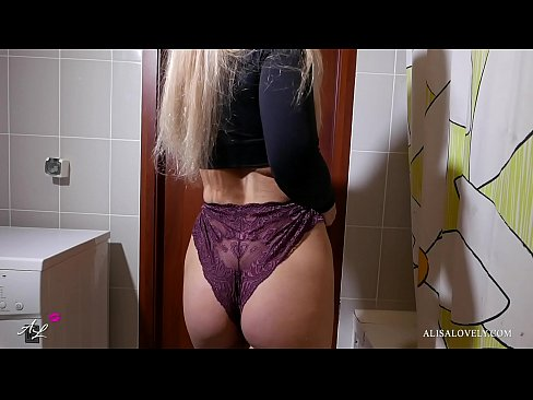 Young Babe Fucked in your own bathroom - Amateur Couple