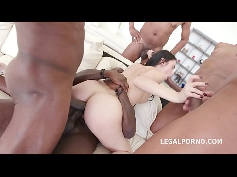 Interracial anal orgy leaves Crystal Greenvelle's ass destroyed after DAP