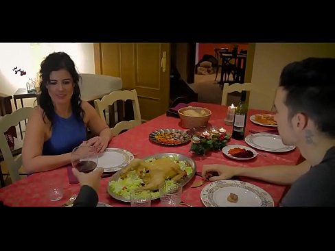 Guy hypnotizes the girls parents and fucks them at th table