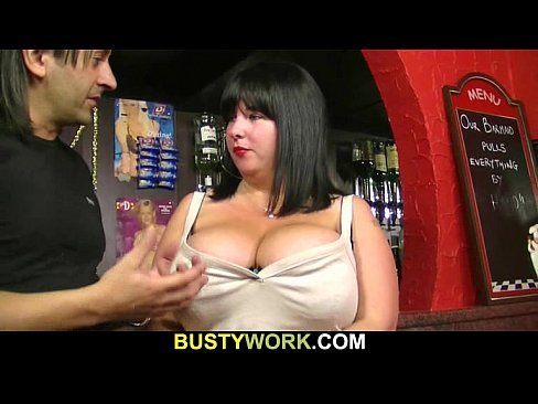 cover video chunky barmaid jumps on customer s cock