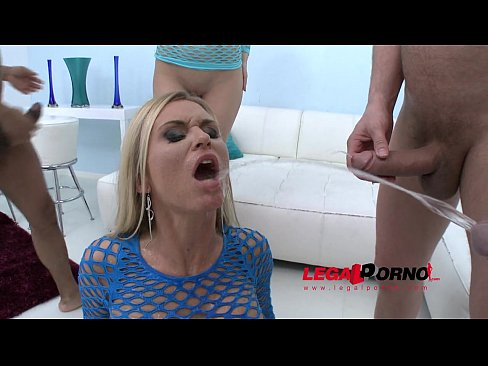 Piss drinking sluts Karina Grand & Laura Crystal: two horny girls have sex orgy with 4 guys and