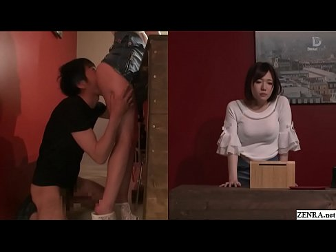 Clip sex Japanese risky sex hold the moan clothing shop foreplay