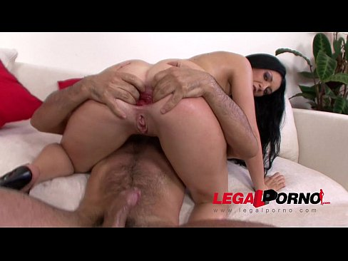 Clip sex Isabella Clark anal stretching with gigantic dildos before HARD gangbang