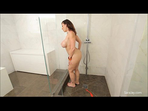 ebony huge tits fucked in shower