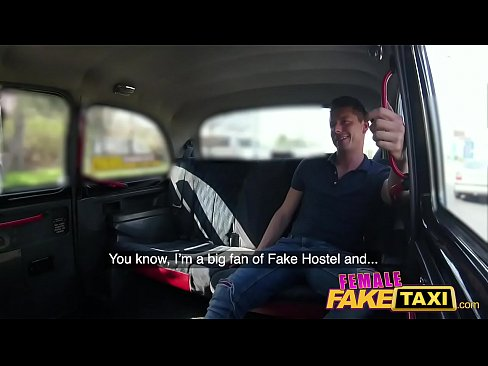 Clip sex Female Fake Taxi Horny blonde driver Cherry Kiss recognises studs cock