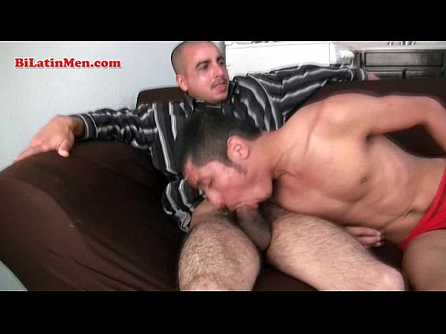 Hot straight masculine latino guy gets sucked by another sexy latin male