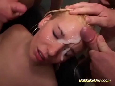 extreme facial cum orgy with young german chick