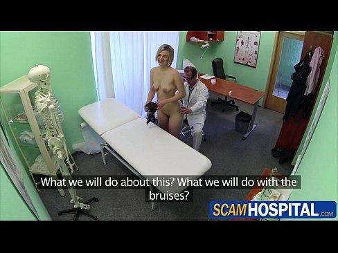 Blonde horny patient gets fucked by the pervy doctor in the table pornhub 3gp videos