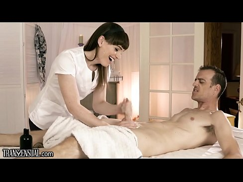 TransSensual Hot TS Masseuse Busted by Cop and Takes it Bareback!