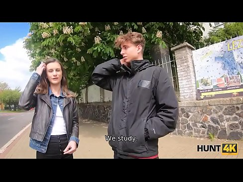 HUNT4K. Boy cant pay for his GF so she makes money like a slut