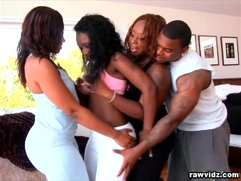 Hot foursome sucking fucking