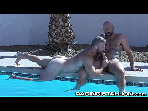 Drew Sebastian Bareback Fuck Train At the Pool - RagingStallion