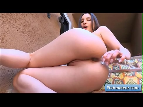 Amazing cutie sexy girl masturbate anally with a huge sex toy for intense orgasm