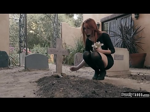 Redhead filled with remourse when she hears ghostly whispers and finds her friends necklace.Seeking answers she goes to the cemetary and sees her undead friends crawl out.They hold her down and shes rubbed.After she throats shes fucked and facesitted