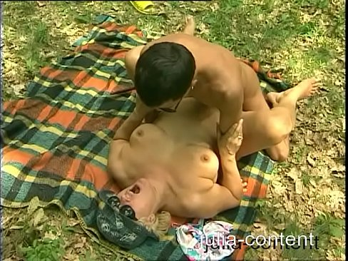 Old busty women fucked in forest