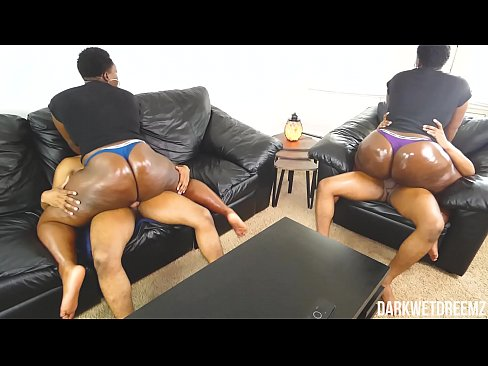 Ebony BBW Stepsister Riding and Grinding | Clip