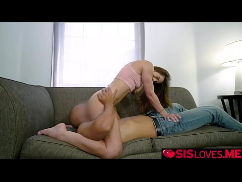 Clip sex Abbie Maley grinds her clit over her stepbros tongue