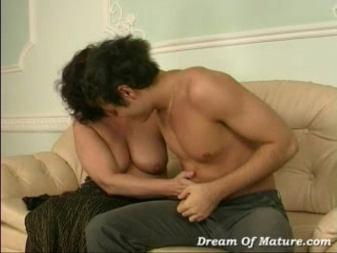 Mature woman Bella with young boy