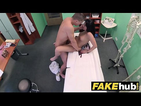 Fake Hospital Shy brunette has explosive orgasms when fucking her doctor