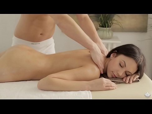 Hot european babe Nora enjoying massage sex