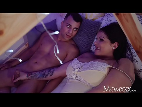 MOM Surprise midnight bunkbed fuck with big tits Stepmom in lacy underwear