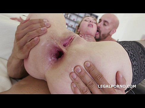horny milf bitch luca bella - 100% anal dap with rough sex and 5 swallows