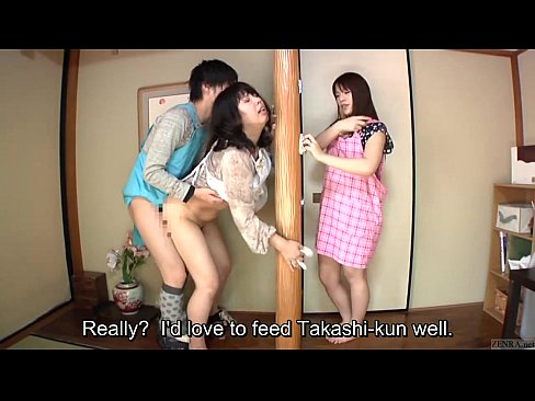Subtitled cfnm japanese caregiver blowjob