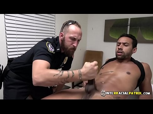 Black Thug is fucked hard by White Gay Jock and his Big Cock in public.