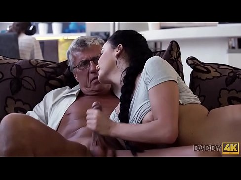 DADDY4K. Old man satisfied sexual needs of his sons girlfriend