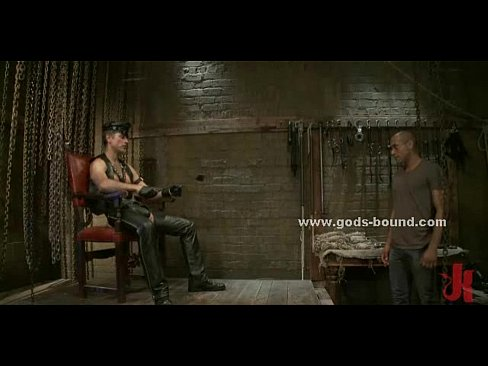 4 bound gays in fetish spanking and bdsm humiliation