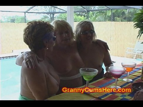 Granny Having Next To A Pool 1