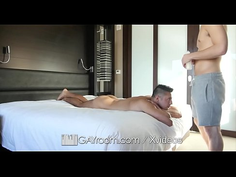 GayRoom Big dick oiled massage dick down